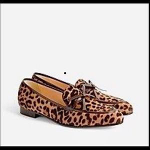 J Crew Collection Academy Loafer Calf Hair sz 11
